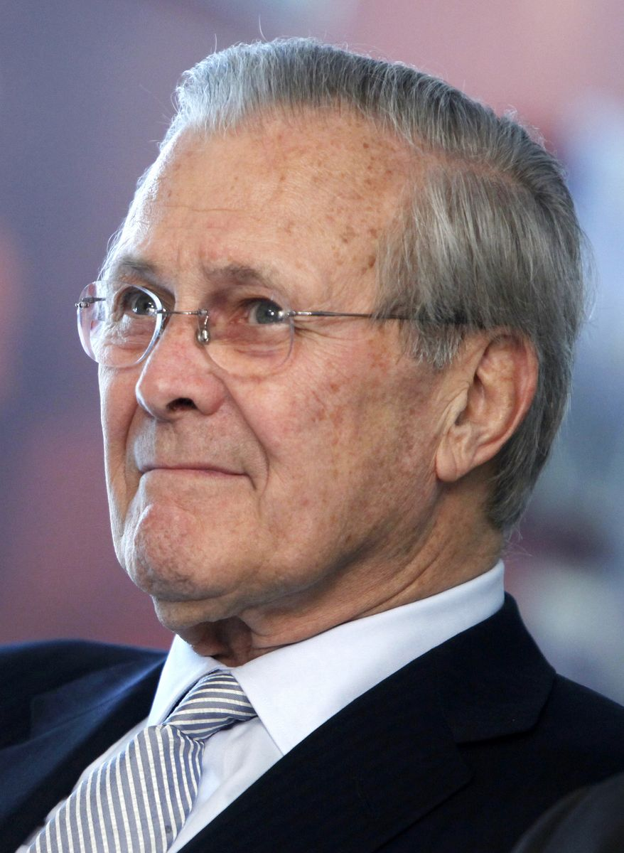 ** FILE ** In a Tuesday, May 19, 2009, photo, former Defense Secretary Donald H. Rumsfeld attends a corridor dedication ceremony at the Pentagon. (AP Photo/Haraz N. Ghanbari, File)