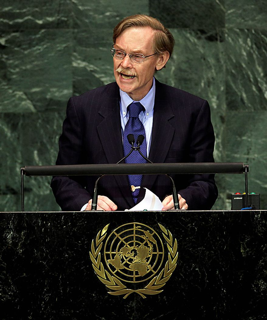Robert B. Zoellick, president of the World Bank, addresses a summit on the Millennium Development Goals at United Nations headquarters on Monday, Sept. 20, 2010. (AP Photo/Richard Drew)