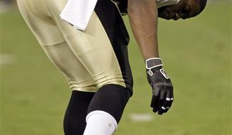 New Orleans Saints quarterback Drew Brees throws in the first quarter against the San Francisco 49ers in an NFL football game in San Francisco, Monday, Sept. 20, 2010. (AP Photo/Paul Sakuma)