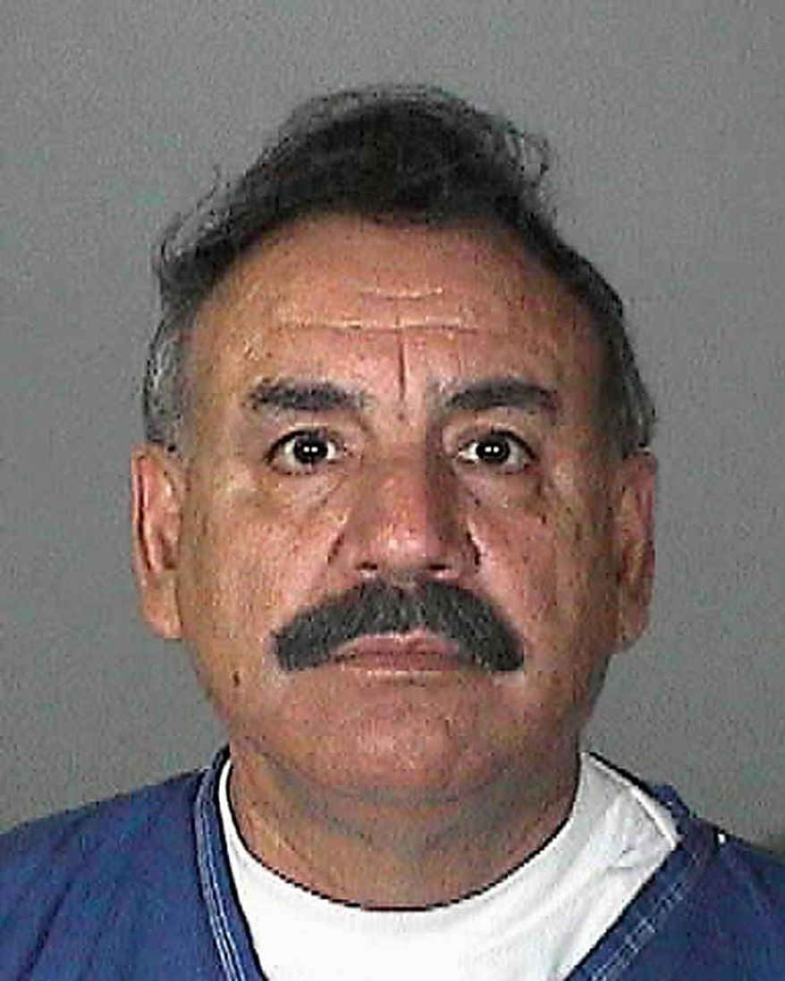 This image provided by the Los Angeles County Sheriff's Department shows city of Bell, Calif. mayor Oscar Hernandez who was arrested Tuesday Sept. 21, 2010 along with seven others over allegations of corruption, misuse of public funds and voter fraud.(AP Photo/Los Angeles County Sheriff)