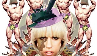 Illustration: Lady Gaga's military by Alexander Hunter for The Washington Times