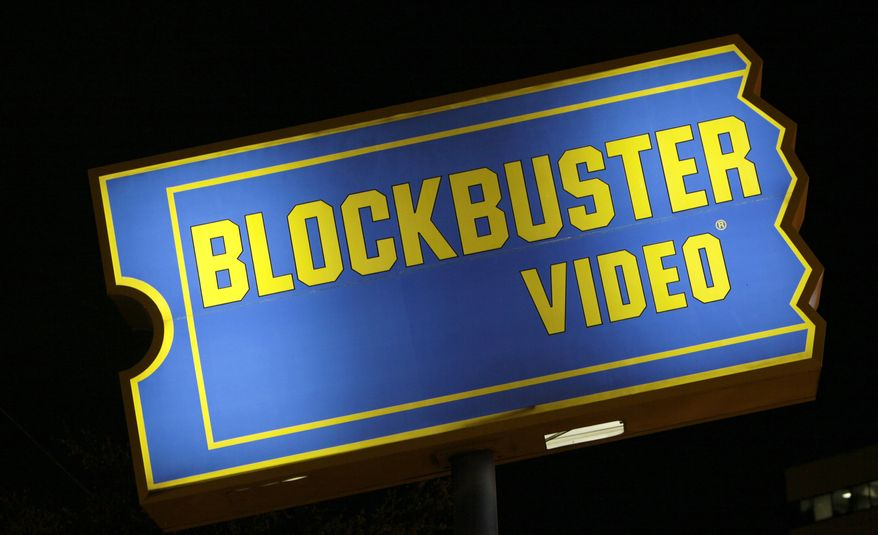 A Blockbuster store sign is seen, Wednesday, Sept. 22, 2010, in Dallas. Troubled video-rental chain Blockbuster Inc. could file for bankruptcy protection, according to a Wall Street Journal article. (AP Photo/LM Otero)