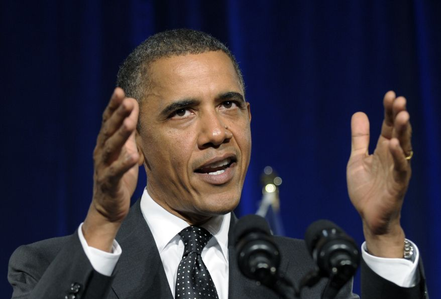 President Obama speaks at a fundraiser in New York on Wednesday, Sept. 22, 2010. (AP Photo/Susan Walsh)