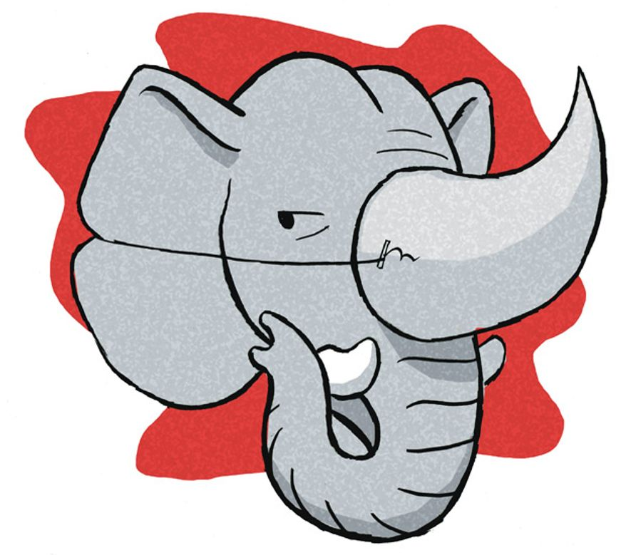 Illustration: RINO by Alexander Hunter for The Washington Times