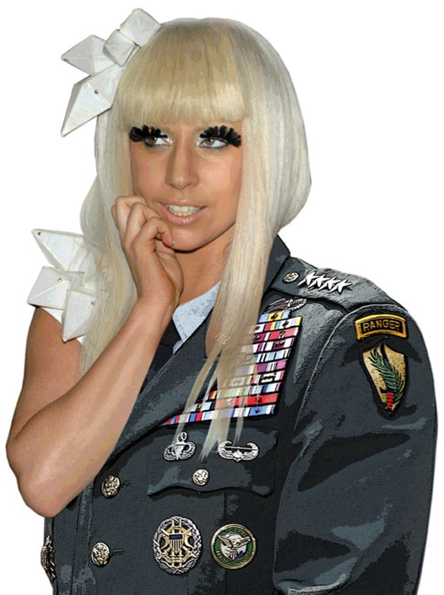 Illustration: General Gaga by Greg Groesch for The Washington Times