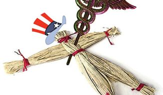 Illustration: Voodoo health care by Greg Groesch for The Washington Times