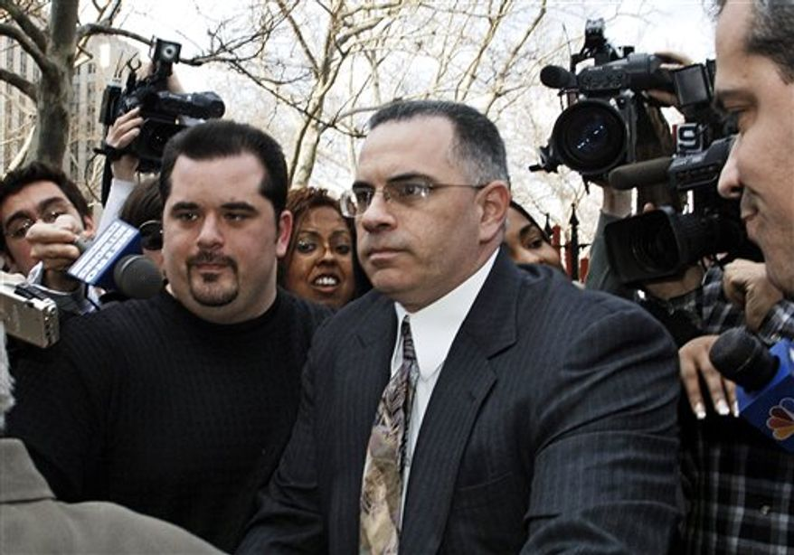 """**FILE** John """"Junior"""" Gotti, the son of the late Gambino crime family leader """"Dapper Don"""" John Gotti, exits Manhattan federal court on Sept. 27, 2006, after his third trial ended in a mistrial. (Associated Press)"""