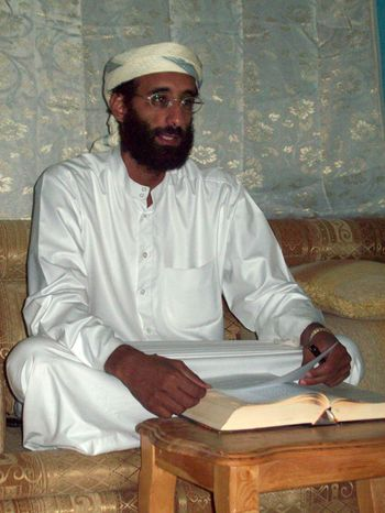 ** FILE ** This October 2008 file photo by Muhammad ud-Deen shows Imam Anwar al-Awlaki in Yemen. The Obama administration is asking a judge in a court filing early Saturday, Sept. 25, 2010, to dismiss a lawsuit filed on behalf of the U.S.-born radical cleric saying that the issues in the cas