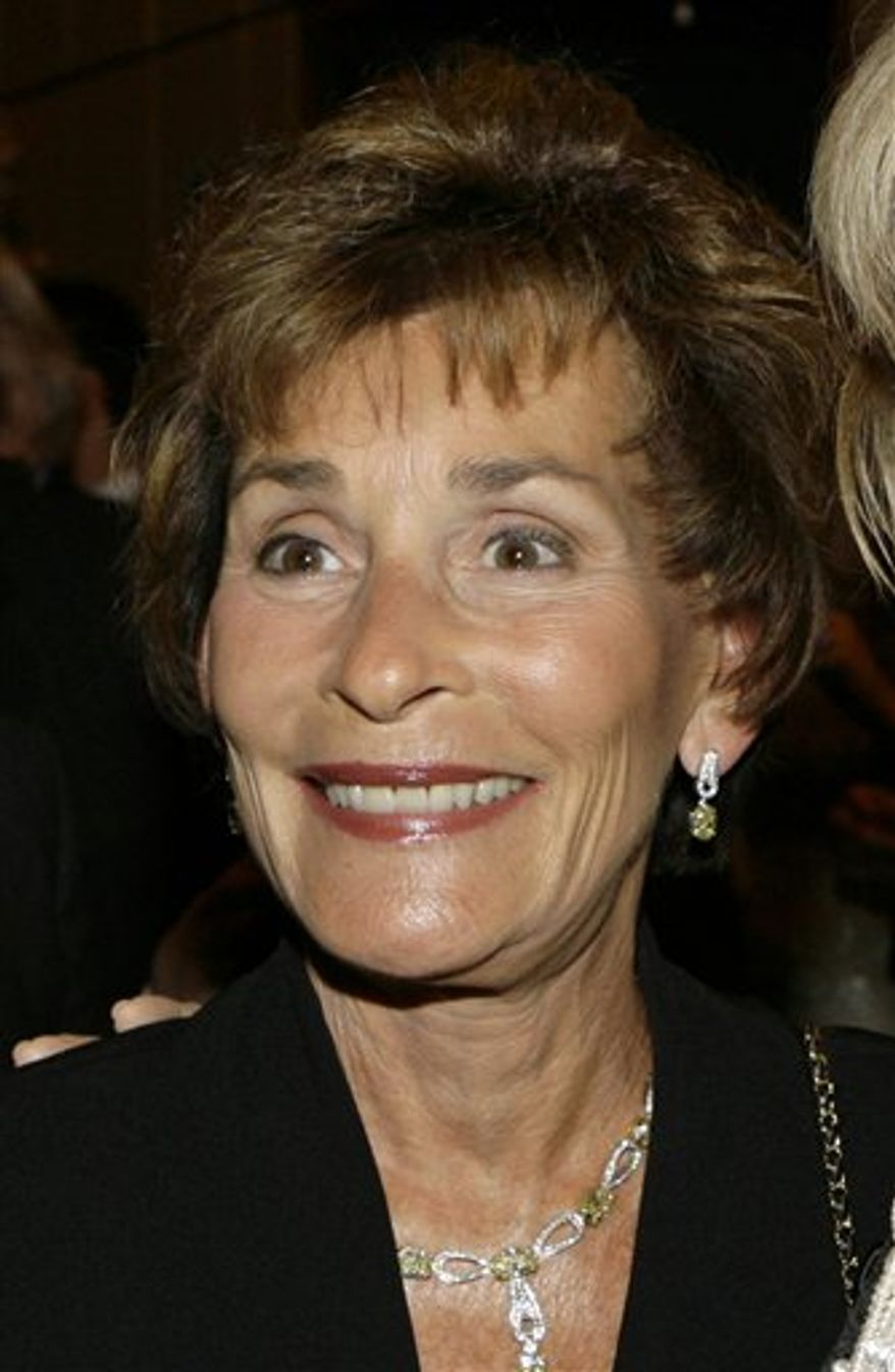 FILE - In this April 18, 2007 file photo, Judge Judy Sheindlin is shown at a party held by CNN celebrating Larry King's fifty years of broadcasting in New York. ( AP Photo/Stuart Ramson, file)