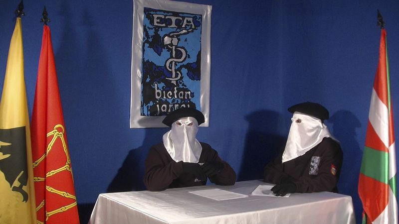 In this undated photo released by the Basque newspaper Gara on Sunday, Sept. 26, 2010, two unidentified and masked ETA members give an interview in which they say the violent, armed group is prepared to abide by such conditions as set out in March in a document called the Brussels Declaration. (AP Photo/Gara)