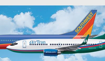 Southwest Airlines, based in Dallas, said Monday it will buy Orlando, Fla.-based AirTran for about $1.42 billion. (PRNewsFoto/AirTran Airways)