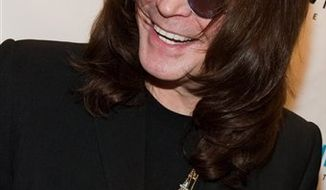 "FILE - In this May 20, 2010 file photo Ozzy Osbourne attends a listening party for his new album ""Scream"" at the Sirius XM studios in New York. Ozzy Osbourne says alcohol, not politics, has stopped him from playing in Israel until now. Osbourne's scheduled performance on Tuesday will be his first ever in the Holy Land. (AP Photo/Charles Sykes)"