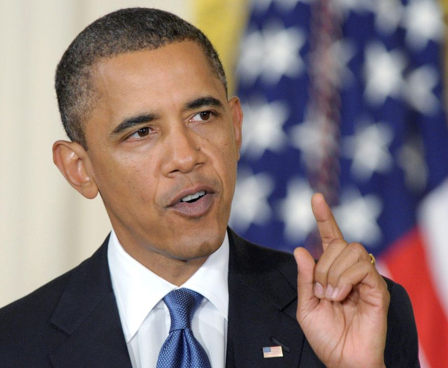 "CAMPAIGNING: President Obama said Monday that voters ""have a real big choice"" to make between the parties in the midterm elections. (Associated Press)"