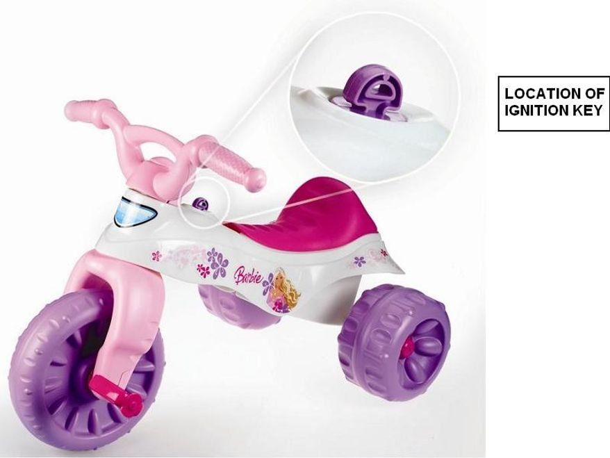 The U.S. Consumer Product Safety Commission and Health Canada, in cooperation with Fisher-Price, announced a voluntary recall of the Fisher-Price Trikes and Tough Trikes toddler tricycles because a child can strike, sit or fall on the protruding plastic ignition key, resulting in serious injury, including genital bleeding. (AP Photo/U.S. Consumer Product Safety Commission)