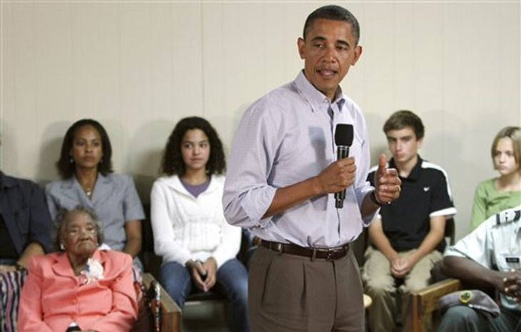 President Barack Obama speaks during a town hall style meeting in Richmond, Va., Wednesday, Sept. 29, 2010.  (AP Photo/Steve Helber)