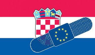 Illustration: Croatia by Linas Garsys for The Washington Times