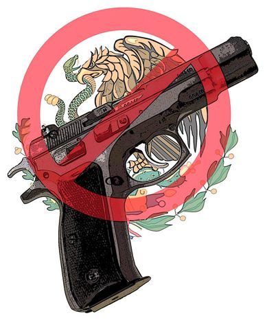 Illustration: Mexican gun by Greg Groesch for The Washington Times