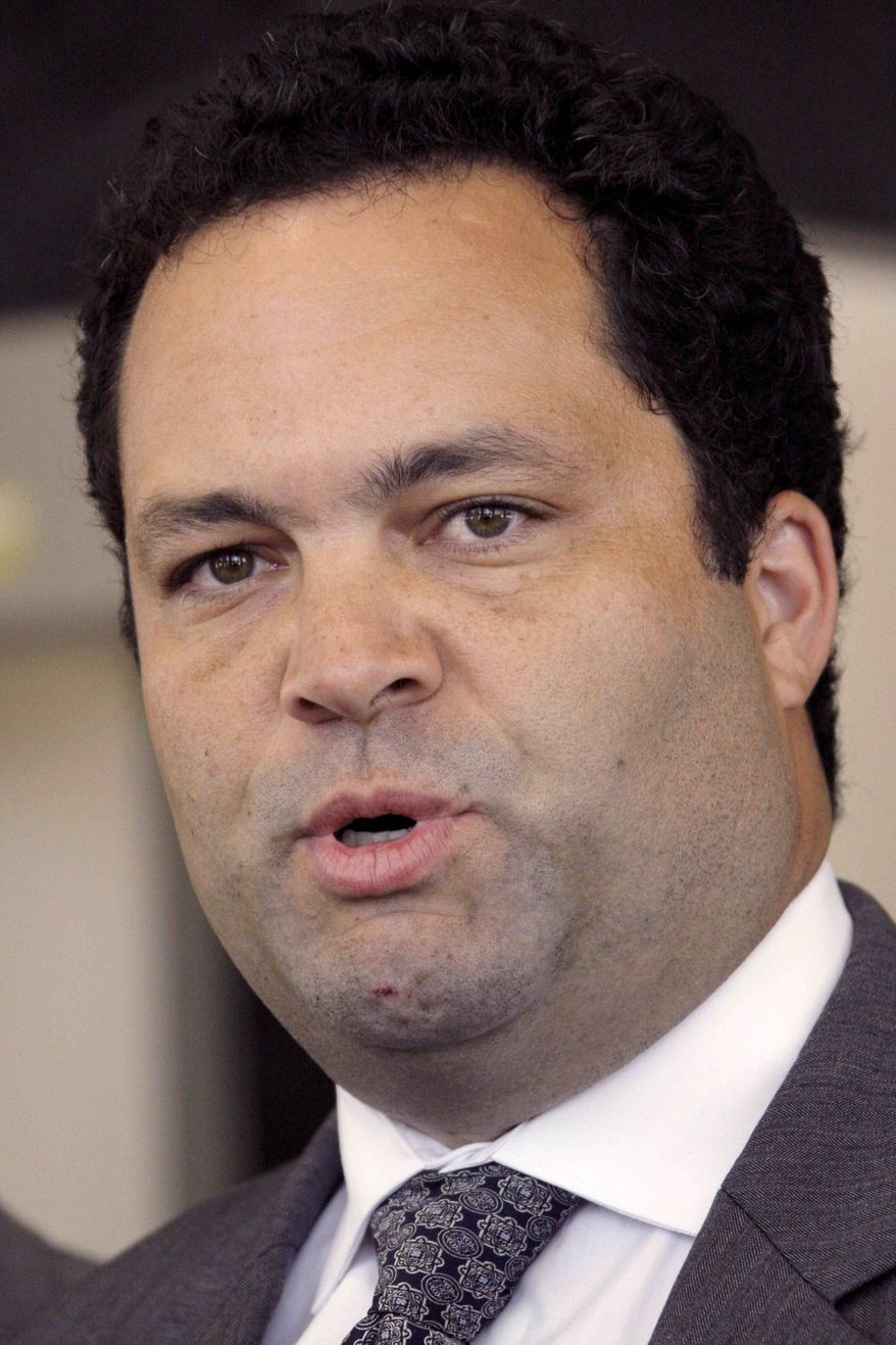 ** FILE ** In this Sept 14, 2010, file photo, NAACP President Benjamin Todd Jealous speaks in Jackson, Miss. (AP Photo/Rogelio V. Solis, File)