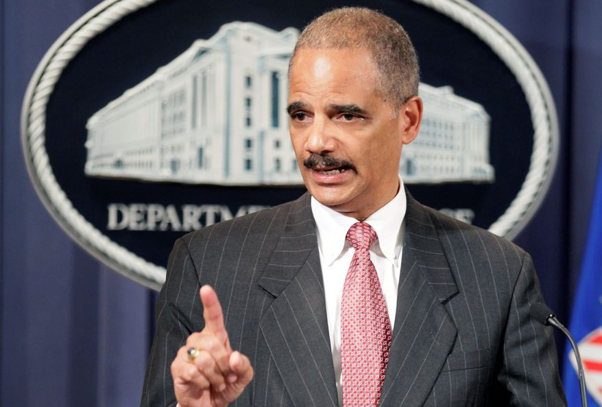 """""""We will not tolerate anti-competitive practices,"""" Attorney General Eric H. Holder Jr. said Monday. (Associated Press)"""