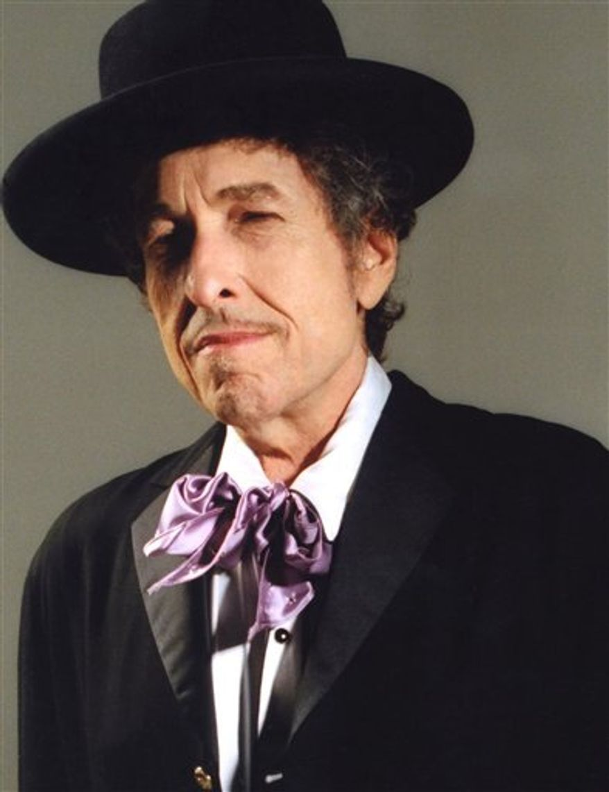 FILE - In this undated file image released by Columbia Records, music legend Bob Dylan is shown.  (AP Photo/Columbia Records, William Claxton)