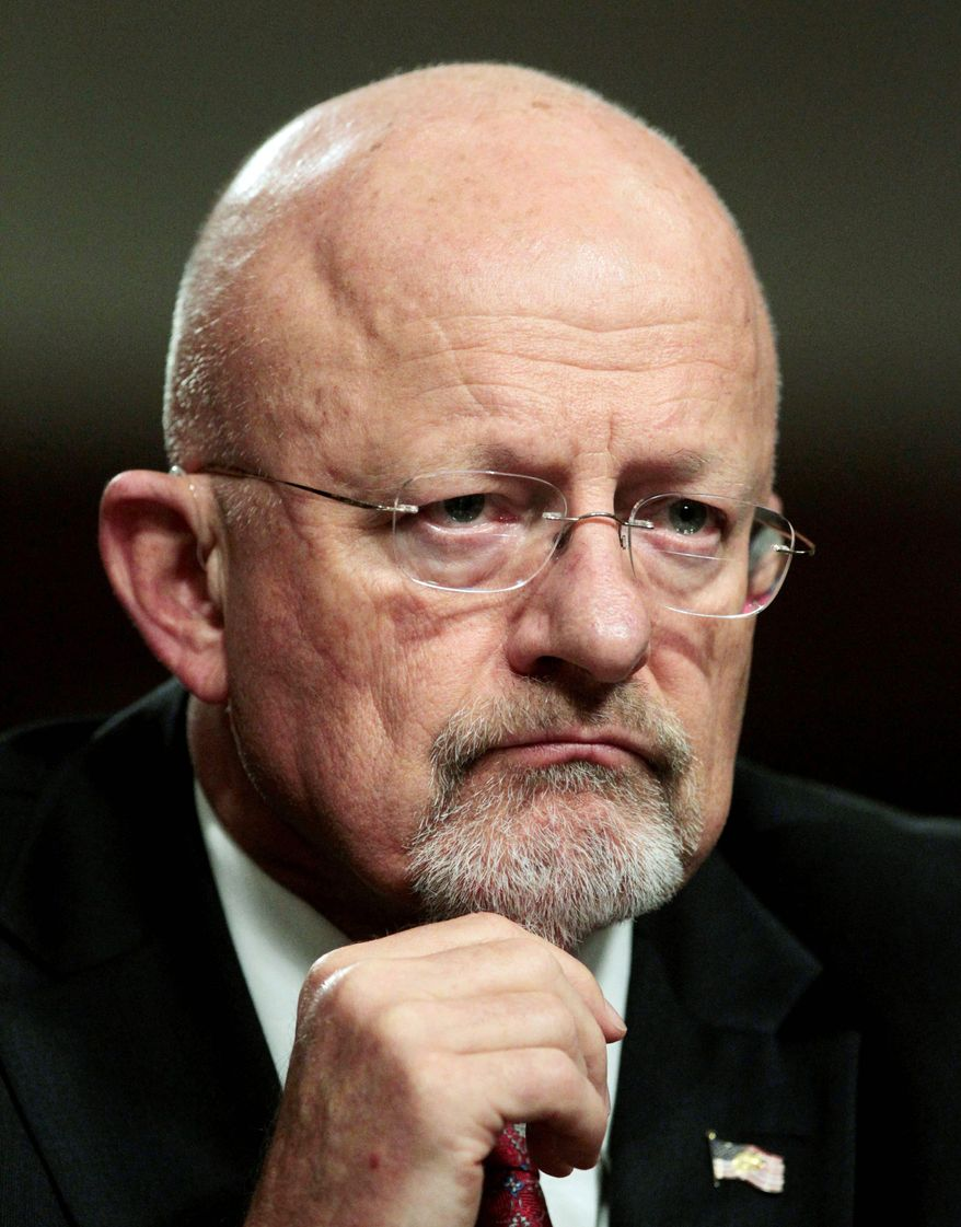 "'BIG YELLOW FLAG': Director of National Intelligence James Clapper slammed ""officials who, for whatever reason, get their jollies from blabbing to the media."" (Associated Press)"