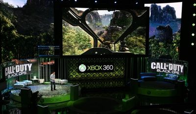 FILE - In this June 14, 2010 file photo originally released by Xbox, Mark Lamia introduces Call of Duty, Black Ops at the Xbox 360 E310 media briefing in Los Angeles. (AP Photo/Xbox, Casey Rodgers)