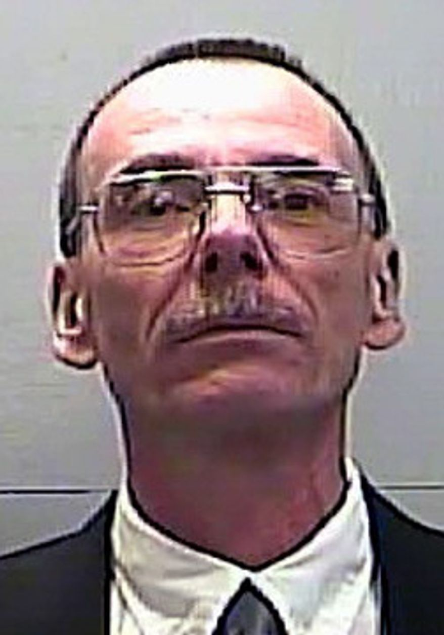 Attorney Danny Lampley was jailed for several hours Wednesday, Oct. 6, 2010, by a Mississippi judge for refusing to recite the Pledge of Allegiance in court. (AP Photo/Lee County, Miss., Sheriff's Department)
