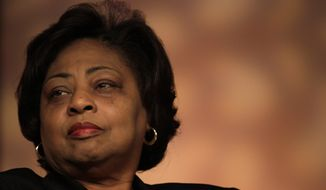 ** FILE ** Then-ousted Agriculture Department employee Shirley Sherrod listens during a panel discussion at the National Association of Black Journalists Annual Convention in this July 29, 2010, file photo taken in San Diego. (AP Photo/Gregory Bull, File)