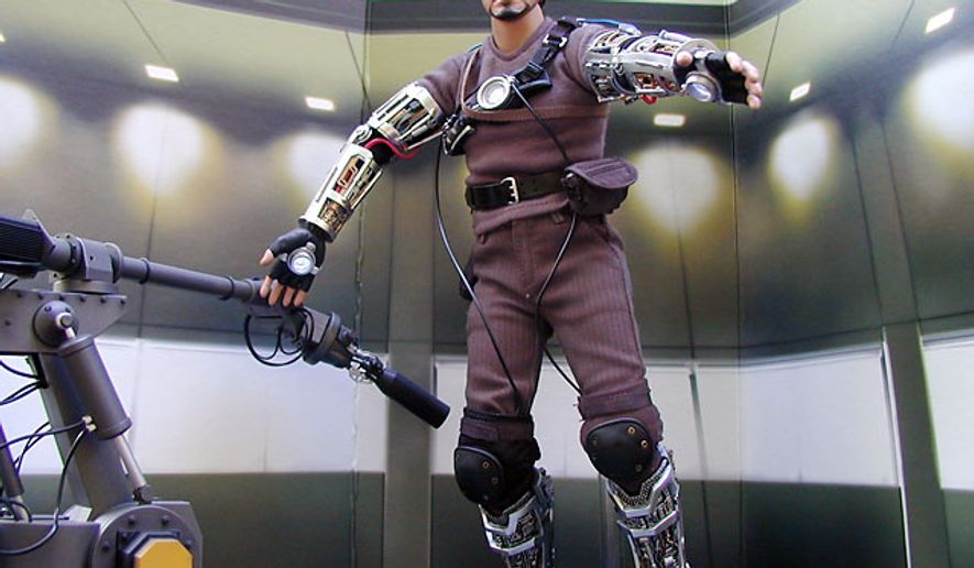 Hot Toys' 12-inch collectible figure Tony Stark: Mech Test (Photograph by  Jacquie Kubin/Special to The Washington Times)