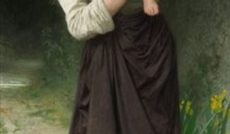 """This picture provided by Sotheby's shows the 19th century oil painting """"Mere et Ses Enfants"""" by Belgian painter Alfred Stevens that will be offered for sale on Nov. 4, 2010, at Sotheby's in New York. The painting is owned by actress Demi Moore and is estimated to bring a possible $200,000. (AP Photo/Sotheby's) NO SALES"""