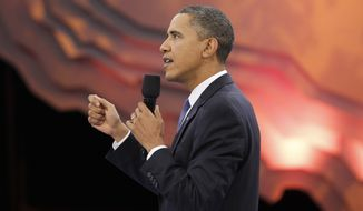 President Obama participates in a youth town-hall event broadcast live on the BET, CMT and MTV networks on Thursday, Oct. 14, 2010, in Washington. (AP Photo)