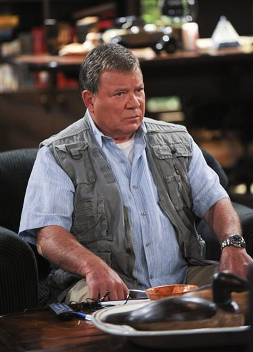 "In this publicity image released by CBS, William Shatner is shown as Ed Goodson, in a scene from ""$#*! My Dad Says,"" based on the popular Twitter site by Justin Halpern. (AP Photo/CBS, Ron P. Jaffe)"
