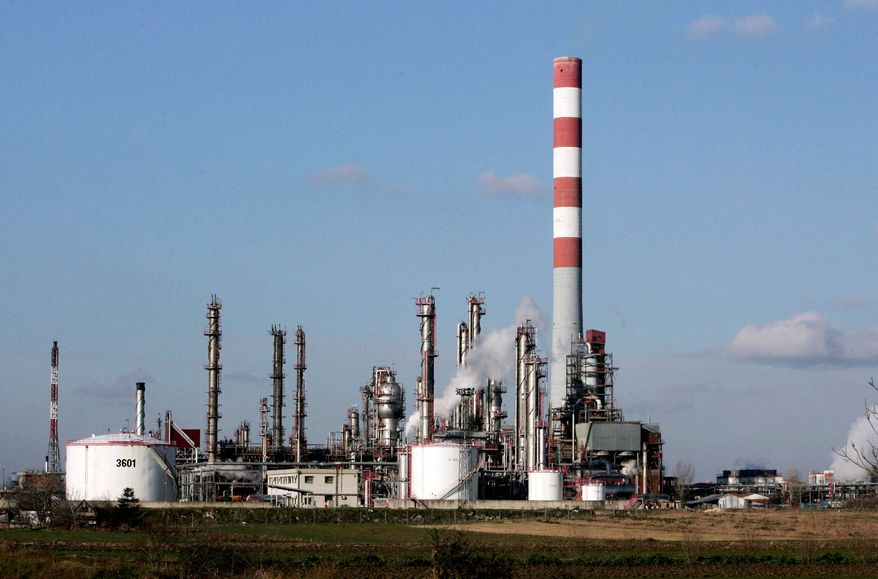 The NIS Jugopetrol oil refinery operates in Pancevo, Serbia, where NATO bombings 11 years ago released mercury, dioxins and other cancer-causing compounds into the Danube River. (Associated Press)