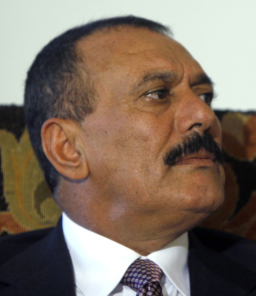 ** FILE ** Yemeni President Ali Abdullah Saleh (AP Photo/Amr Nabil, File)