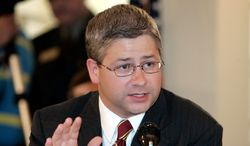 **ADVANCE FOR DEC. 9-10 ** FILE**Rep. Patrick McHenry, R-NC, speaks during an immigration hearing in Gastonia, N.C., Aug. 25, 2006. The 31-year-old McHenry represents a safe GOP district and is ready to become a leading voice of attack against the new Democratic leadership. (AP Photo/Chuck Burton)