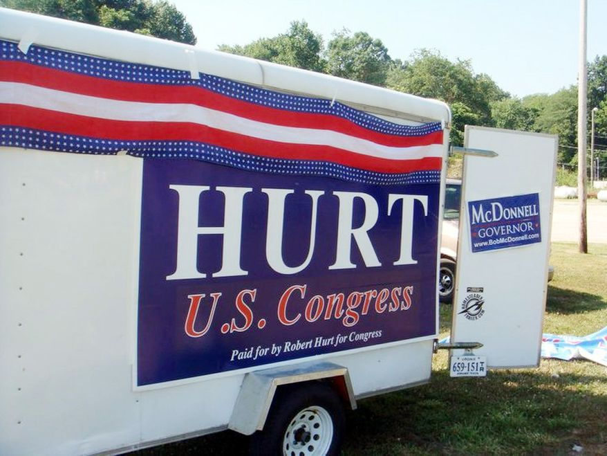 Provided by Hurt for U.S. Congress ANGER: Republican Robert Hurt, a Virginia state senator running for the 5th District U.S. House seat, has struck a chord in riled-up voters with his campaign poster.