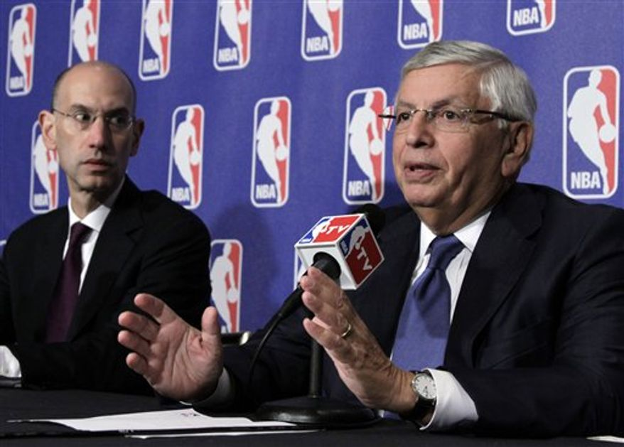 National Basketball Association commissioner David Stern responds to a question during a news conference in New York, Thursday, Oct. 21, 2010. (AP Photo/Richard Drew)