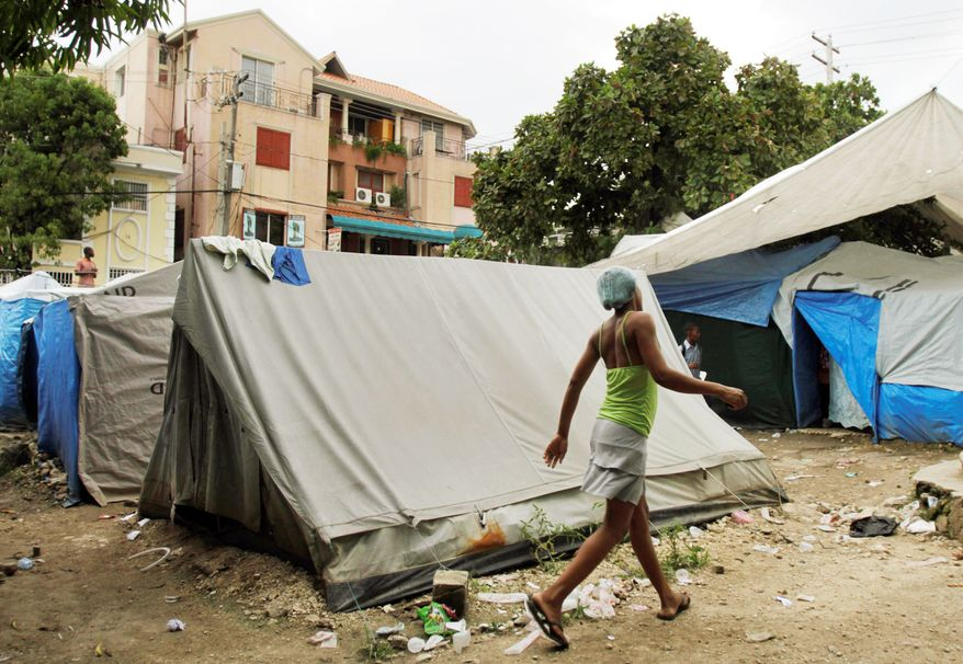 More than 1 million Haitians live in refugee camps like this one in Port-au-Prince since an earthquake destroyed an estimated 110,000 homes and apartments. (Associated Press)