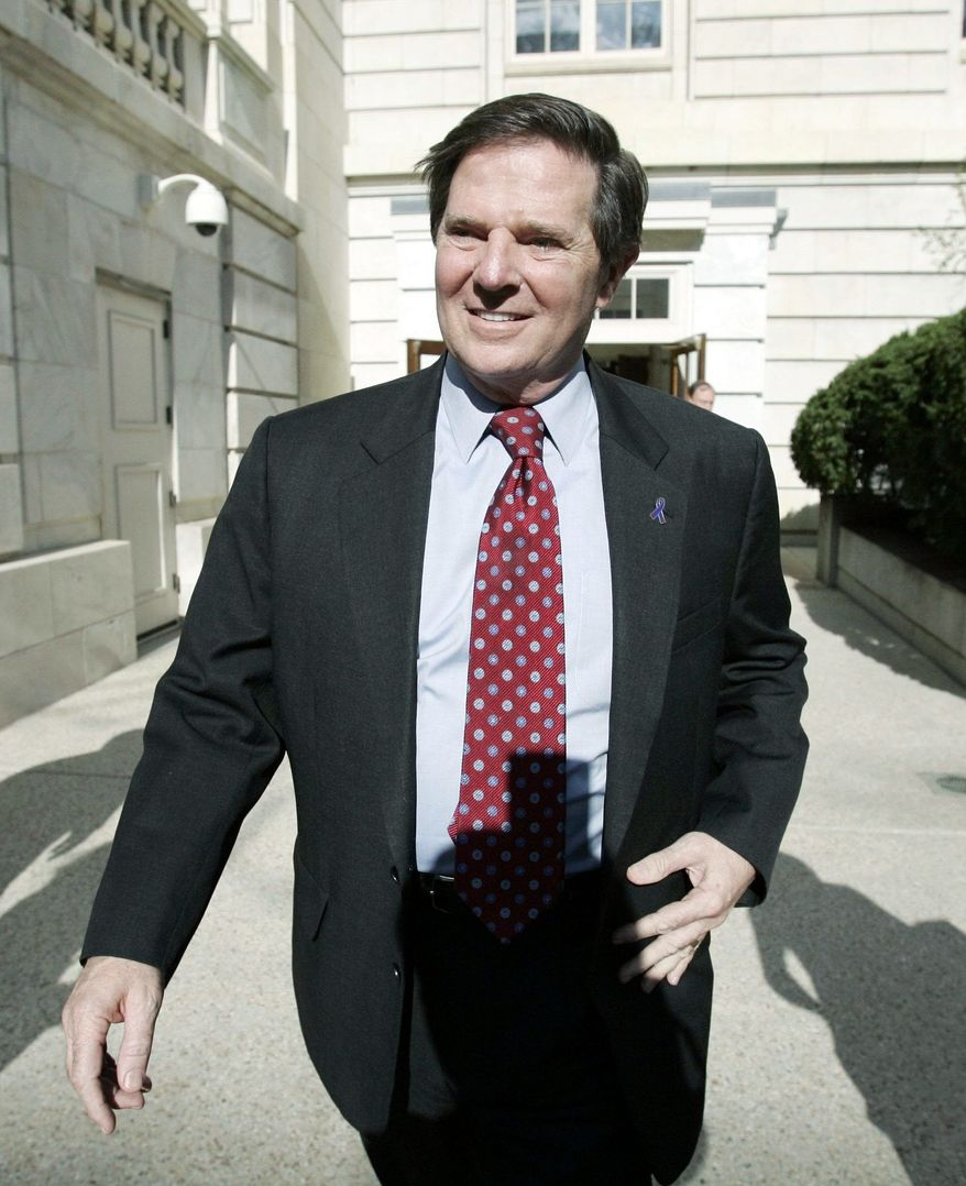Jury selection for the trial of ex House Majority Leader Tom DeLay, seen here on Capitol Hill in April 2006, starts Tuesday. (Associated Press)