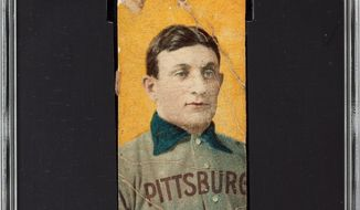 A rare Honus Wagner baseball card. (Associated Press) ** FILE **
