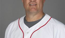 FILE - This 2010, file photo shows Boston Red Sox pitching coach John Farrell. The Toronto Blue Jays appear set to hire a manager, with Farrell expected to get the job. Farrell has never managed in the majors and would succeed Cito Gaston, who retired after the season.  Blue Jays general manager Alex Anthopoulos would not confirm the hiring to The Associated Press on Monday, Oct. 25, 2010. (AP Photo/Nati Harnik, File)