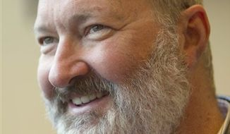 Actor Randy Quaid speaks to the media at his lawyers office in Vancouver, British Columbia, Canada on Wednesday, Oct. 27, 2010. Quaid and his were released from a Canadian detention facility nearly a week being after being arrested on outstanding U.S. warrants related to vandalism charges. (AP Photo/The Canadian Press, Jonathan Hayward)