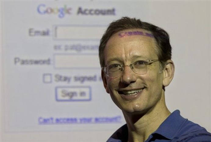 Peter Fleischer, Google's Global Privacy Counsel poses for a photograph in Jerusalem, Tuesday, Oct. 26, 2010. Google's global privacy counsel says he's surprised by how few people choose to control what ads are steered their way _ a tool which the I