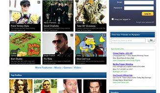 This screenshot shows the MySpace website page Wednesday Oct. 27, 2010. MySpace, the online social hub that's been fighting to stay relevant in the age of Facebook and Twitter, is overhauling its image and its website into an entertainment destination for its mostly younger audience. Starting Wednesday Oct. 27, 2010 and over the next month, MySpace will be relaunching its site to focus on giving users more ways to consume music, videos and celebrity gossip.  (AP photo/MySpace) No Sales