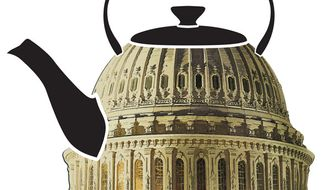 Illustration: Tea Party by Greg Groesch for The Washington Times