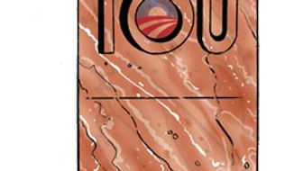 Illustration: No cuts, no glory by Alexander Hunter for The Washington Times