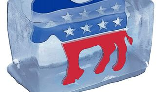 Illustration: Democrats on Ice by Greg Groesch for The Washington Times