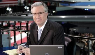 ** FILE ** In this May 3, 2007, file photo, Keith Olbermann of MSNBC poses at the Ronald Reagan Library in Simi Valley, Calif., (AP Photo/Mark J. Terrill, file)