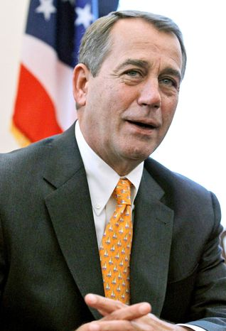 NO MANEUVERING: The presumed House Speaker-to-be John A. Boehner says lawmakers will freely debate raising the debt ce