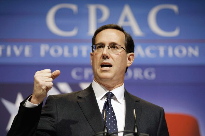 Just two days after the midterm elections, former Sen. Rick Santorum, Pennsylvania Republican, was taking the political pulse of New Hampshire, home to 2012's first-in-the-nation presidential primary. (Associated Press)